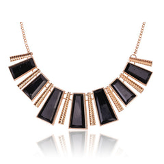 Tribal Collection Necklace Chunky Black and Gold