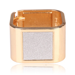 Beautiful Square Gold Bangle With Diamond Dust Bracelet