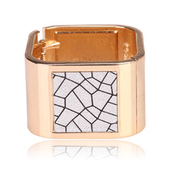 Beautiful Square Gold Bangle With Beady Design Bracelet