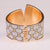 Beautiful Assymetrical 8's Gold Bangle Bracelet with Diamond Dust Look