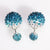 Mise en Gum Tee Style Tribal Earrings  - Crystal Drip Light Blue