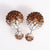 Mise en Gum Tee Style Tribal Earrings  - Crystal Drip Bronze
