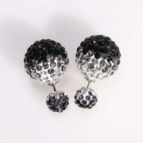Mise en Gum Tee Style Tribal Earrings  - Crystal Drip Black