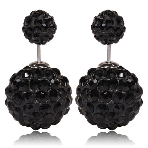 Limited Edition Tribal Earrings - Swarovski Crystal Black 2