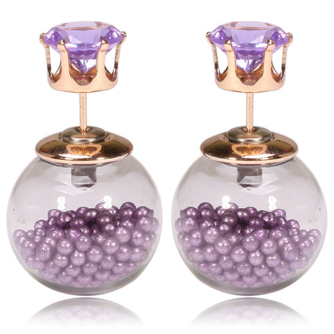 Gum Tee Tribal Earrings - Floating Caviar Purple