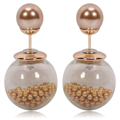 Gum Tee Tribal Earrings - Caviar Collection Bronze