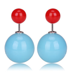 Gum Tee Mise en Style Tribal Earrings - Jelly Blue & Red