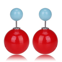 Gum Tee Mise en Style Tribal Earrings - Jelly Red & Jelly Baby Blue