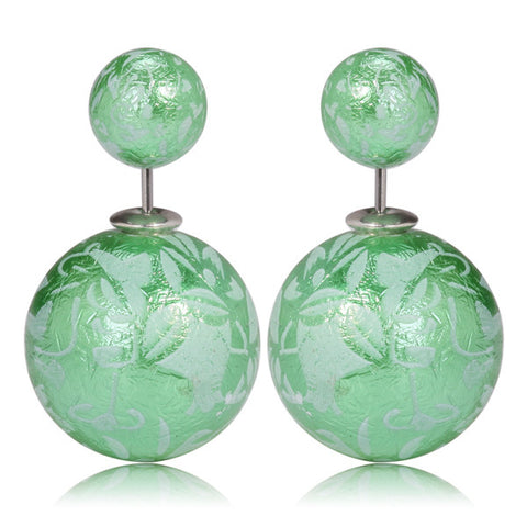 Gum Tee Mise en Style Tribal Earrings - Oriental Green