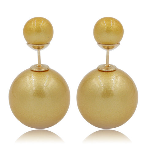 Gum Tee Mise en Style Tribal Earrings - Venetian Yellow