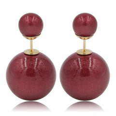 Gum Tee Mise en Style Tribal Earrings - Venetian Red