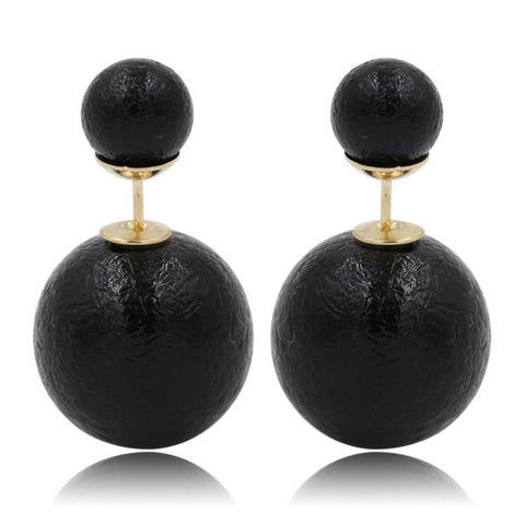 Gum Tee Mise en Style Tribal Earrings - Venetian Black
