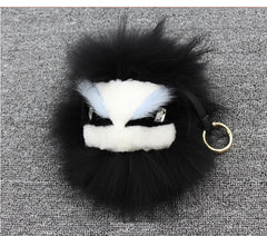 BEADY FUR MONSTER BAG CHARM - KEVIN BLACK