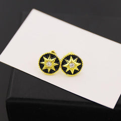 BeadyBoutique Lucky Star Jewelry Collection Earrings - Black