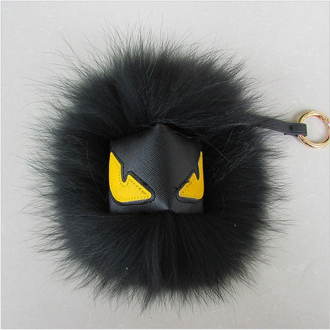 BEADY FUR MONSTER BAG CHARM - BATMAN in BLACK