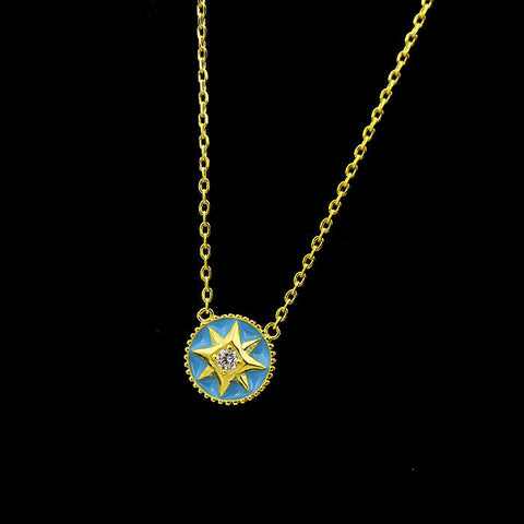 BeadyBoutique Lucky Star Jewelry Collection Necklace - Blue