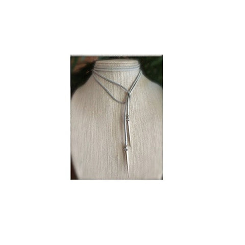Luxury Velvet Choker - Grey Rivet Design