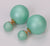 Gum Tee Mise en Style Tribal Earrings - Matte Mint Green