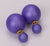 Gum Tee Mise en Style Tribal Earrings - Matte Purple