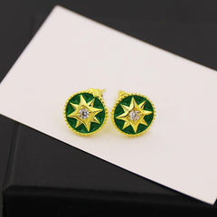 BeadyBoutique Lucky Star Jewelry Collection Earrings - Green