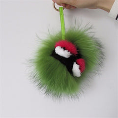 BEADY FUR MONSTER BAG CHARM - BERNIE in GREEN
