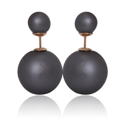 Gum Tee Mise en Style Tribal Earrings - Matte Ash Gray