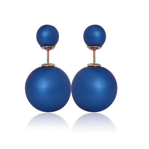 Gum Tee Mise en Style Tribal Earrings - Matte Royal Blue