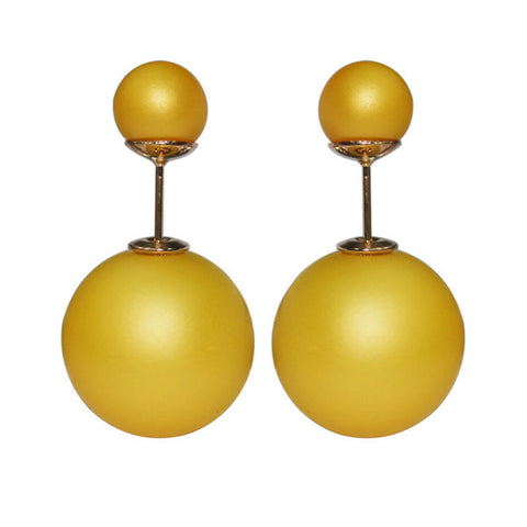 Gum Tee Mise en Style Tribal Earrings - Matte Yellow