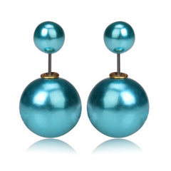 Gum Tee Mise en Style Tribal Earrings - Metallic Sea Blue