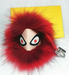 BEADY FUR MONSTER BAG CHARM - BRYCE in FUSCHIA