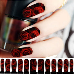 Nail Decor Decals Red Roses