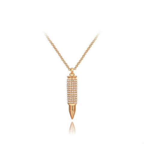 Beady Bite theBullet Necklace - Rose Gold