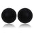 Tribal Earrings - Single Stud Matte Black