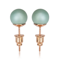 Tribal Earrings - Single Stud Matte Green