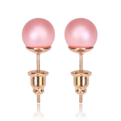 Tribal Earrings - Single Stud Matte Pink