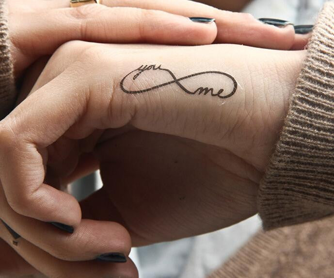Beady Temporary Tattoo You And Me Inifinty Beady Boutique Com