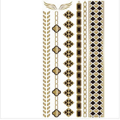 BEADY Temporary Tattoo Tribal Bands Sheet