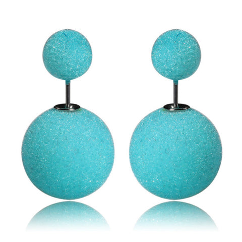 Gum Tee Mise en Style Tribal Earrings - Velvet Aquamarine