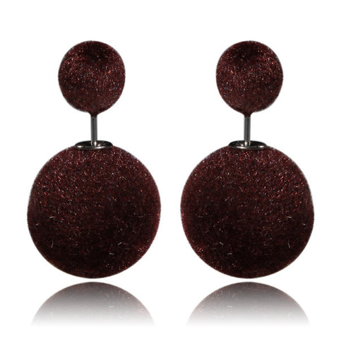 Gum Tee Mise en Style Tribal Earrings - Velvet Brown Burgundy
