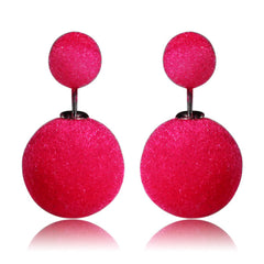 Gum Tee Mise en Style Tribal Earrings - Velvet Red Rose