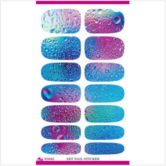 Nail Decor Decals Water Mark Blues and Pinks