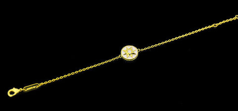 BeadyBoutique Lucky Star Jewelry Collection Bracelet - White