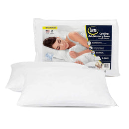 Serta Gel Memory Foam Cluster Pillows, Set of 2 - DirectBed
