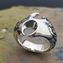 Load image into Gallery viewer, One of a kind silver dragon ring