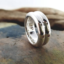 Load image into Gallery viewer, Double ring in sterling silver