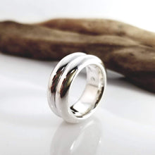 Load image into Gallery viewer, Double ridge sterling silver ring