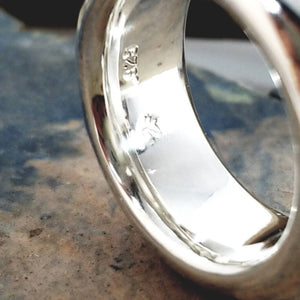 Super fat sterling silver ring