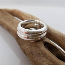 Load image into Gallery viewer, Gorgeous double thick silver band