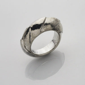 Unique heavy designer silver ring