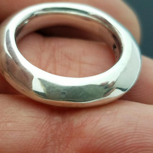 Solid unique designer sterling silver ring